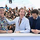 Bill Murray, Adrien Brody, and Wes Anderson at an event for The French Dispatch (2021)