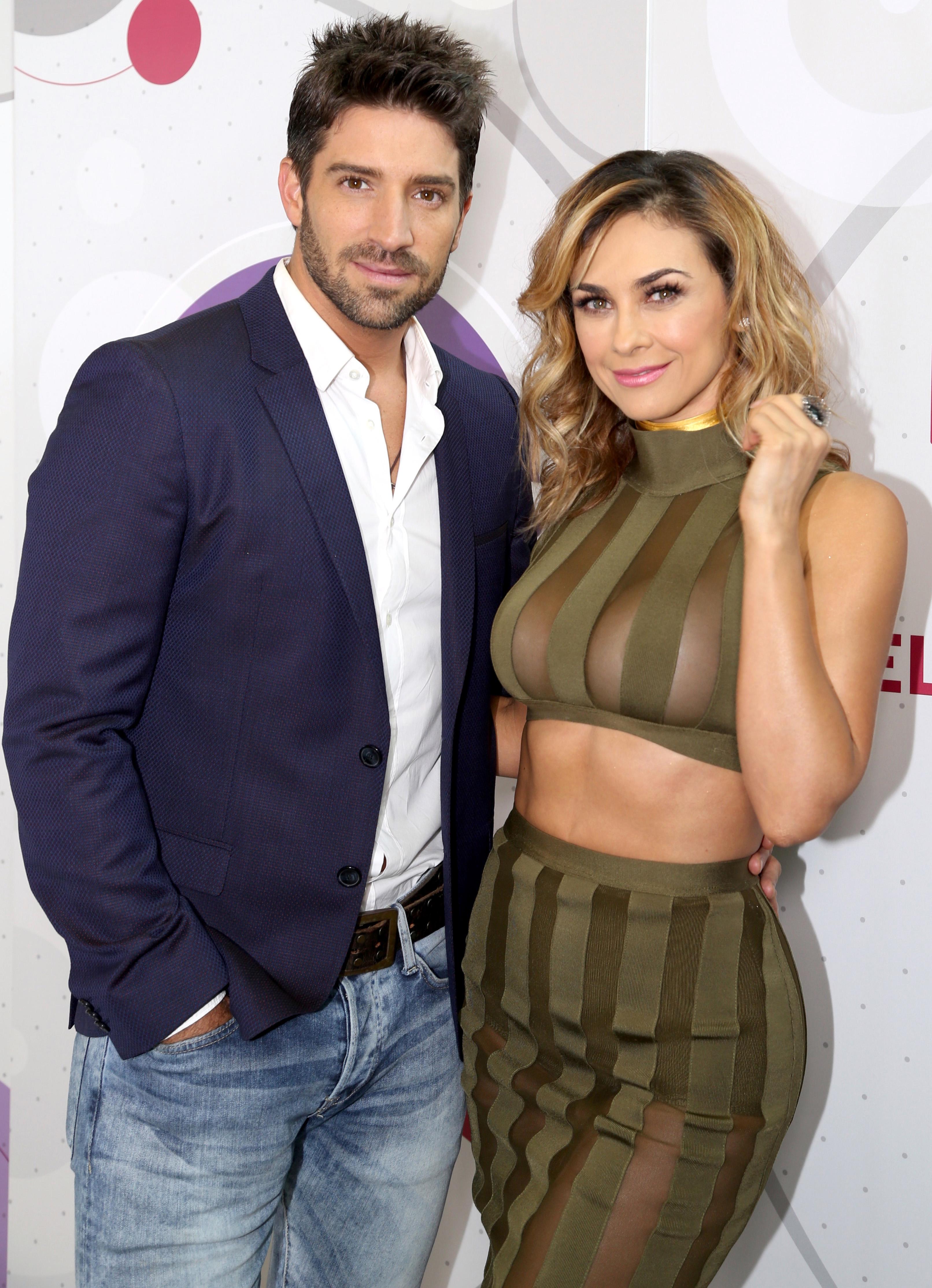 Aracely Arámbula and David Chocarro at an event for La Doña (2016)