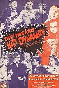 Vince Barnett, Pamela Blake, Kay Marvis, Leo Gorcey, Huntz Hall, Bobby Jordan, Wheeler Oakman, and Bobby Stone in Kid Dynamite (1943)