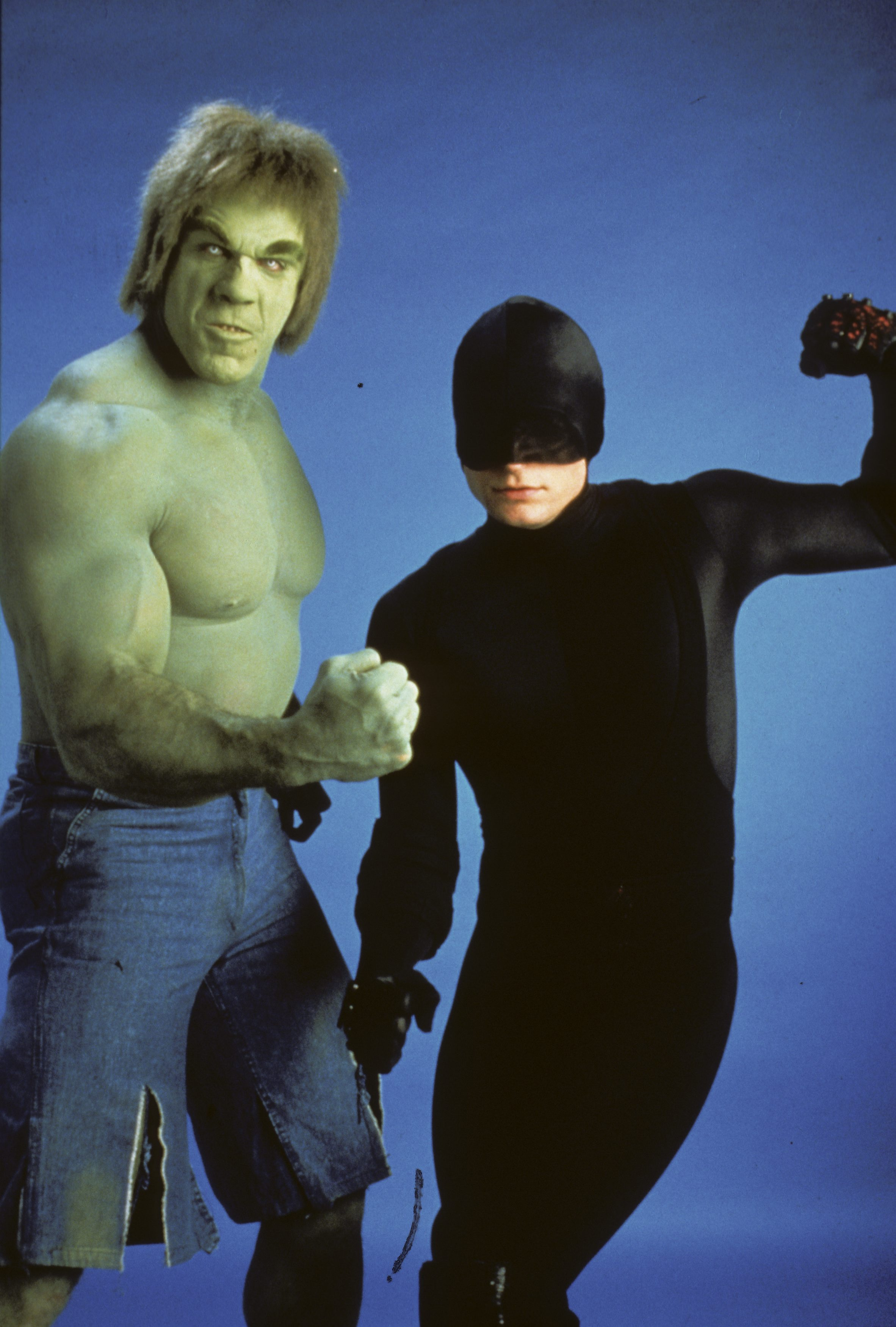 Lou Ferrigno and Rex Smith in The Trial of the Incredible Hulk (1989)