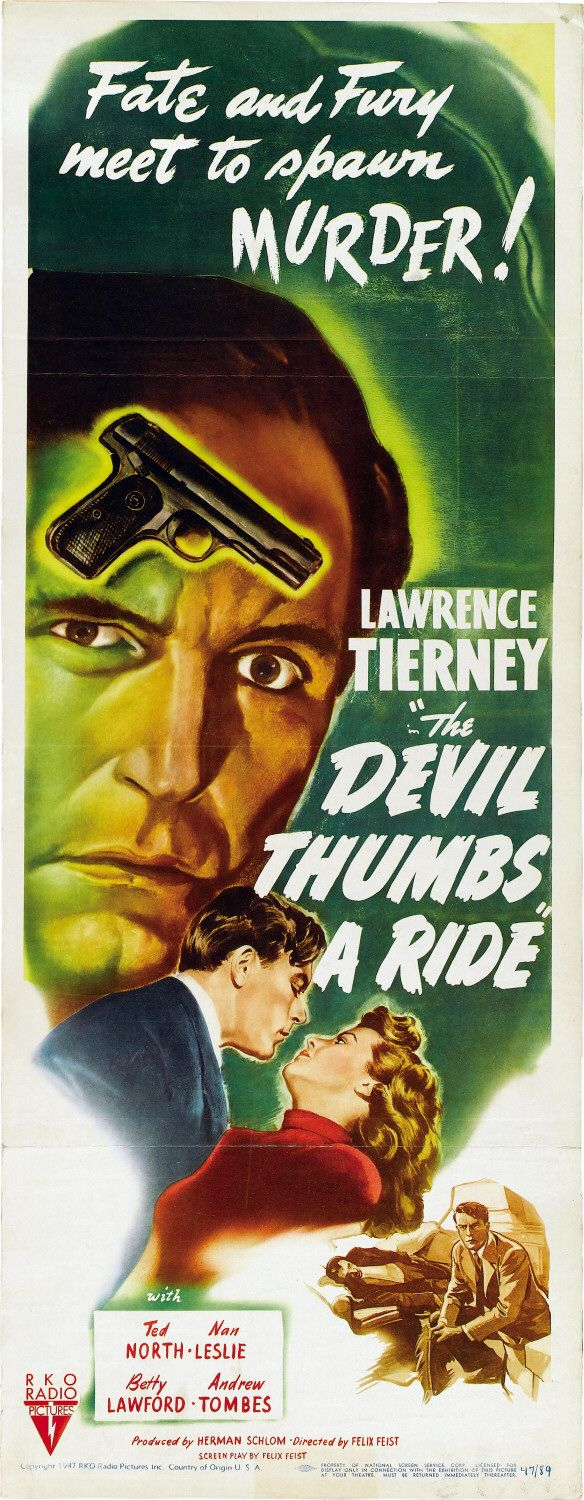 Nan Leslie and Lawrence Tierney in The Devil Thumbs a Ride (1947)