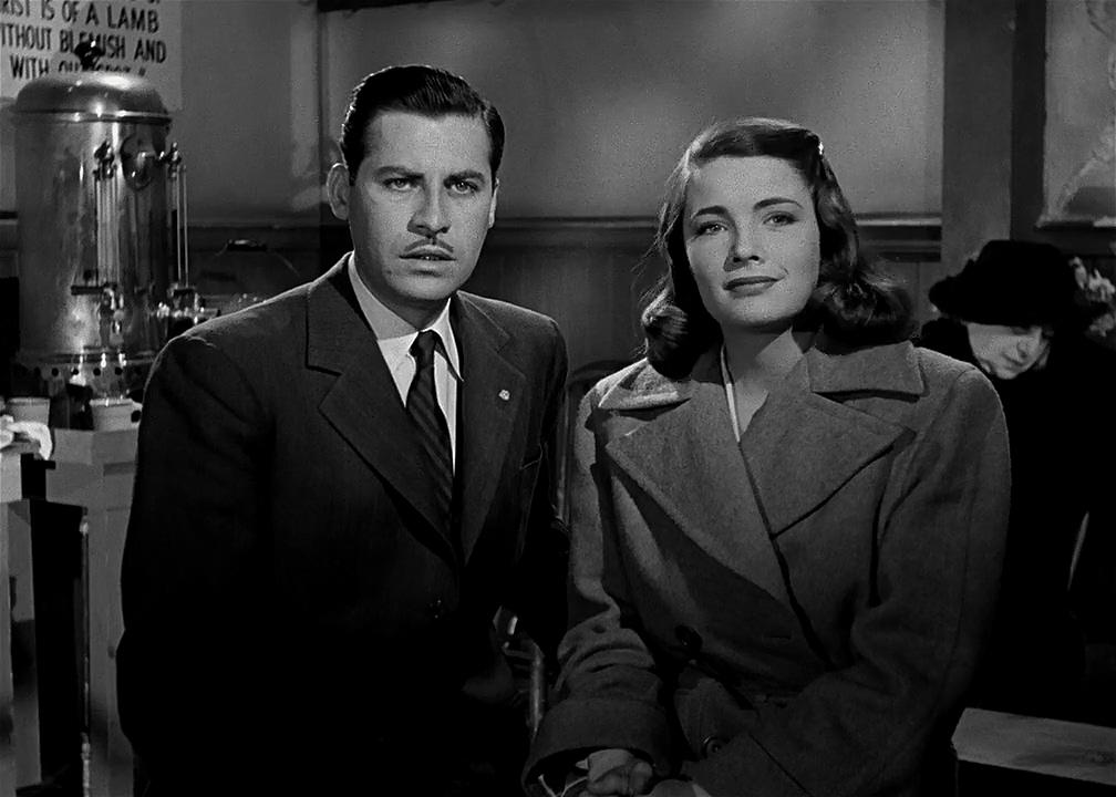 Nancy Guild and John Hodiak in Somewhere in the Night (1946)