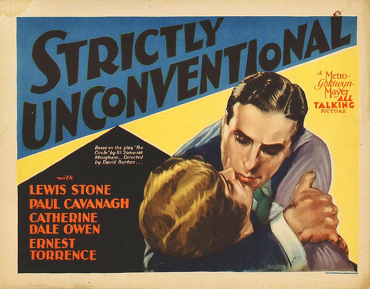 Paul Cavanagh and Catherine Dale Owen in Strictly Unconventional (1930)