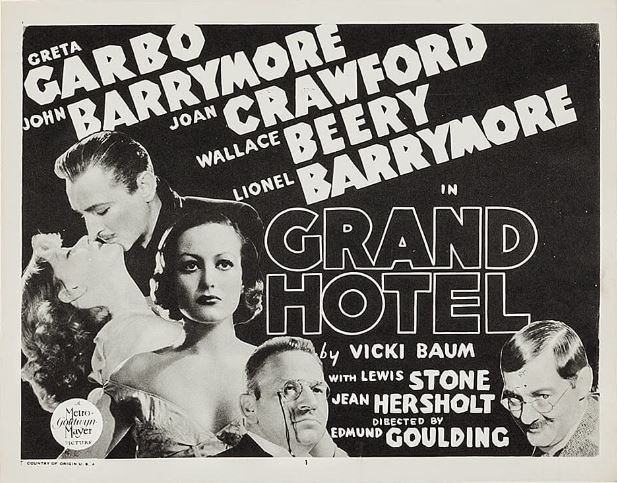 John Barrymore, Lionel Barrymore, Wallace Beery, Joan Crawford, and Greta Garbo in Grand Hotel (1932)