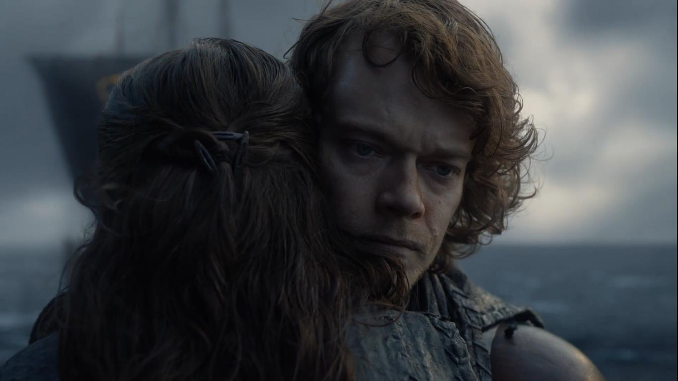 Alfie Allen and Gemma Whelan in Game of Thrones (2011)