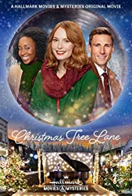 Alicia Witt, Andrew W. Walker, and Briana Price in Christmas Tree Lane (2020)