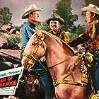 Roy Rogers, Rex Allen, Gordon Jones, and Trigger in Trail of Robin Hood (1950)
