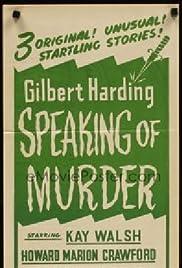 Gilbert Harding Speaking of Murder Poster