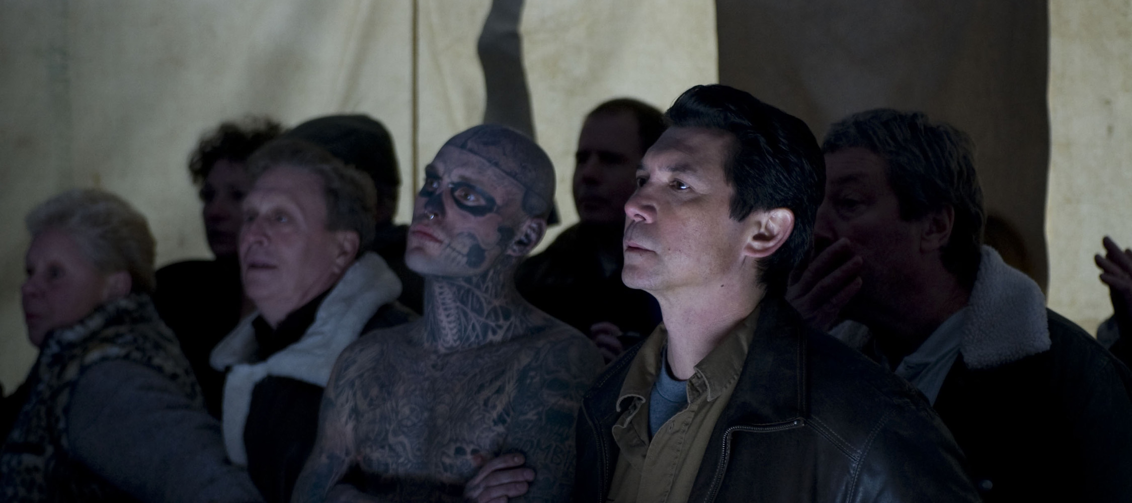 Lou Diamond Phillips and Rick Genest in Carny (2009)