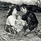 Tyrone Power, Susan Hayward, and Judy Dunn in Rawhide (1951)