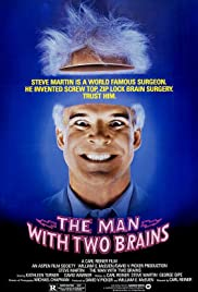 The Man with Two Brains Poster