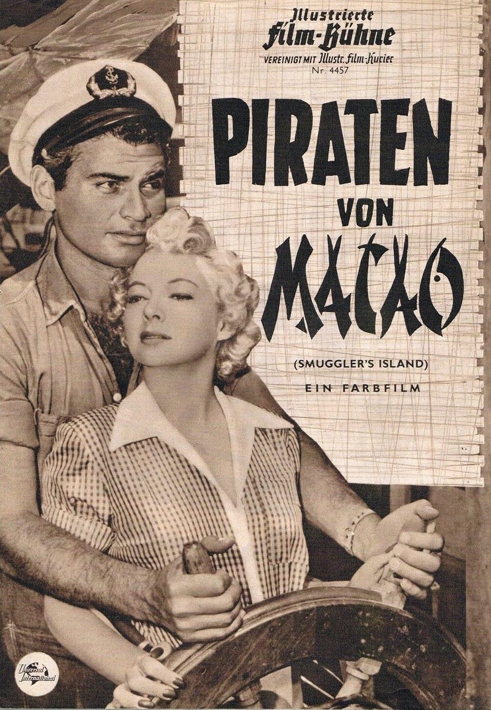 Jeff Chandler and Evelyn Keyes in Smuggler's Island (1951)