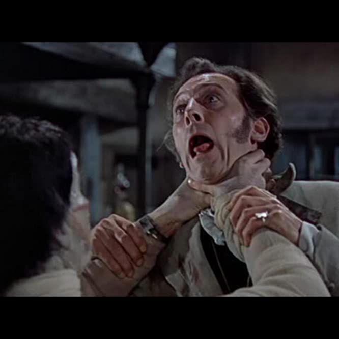 Christopher Lee and Peter Cushing in The Curse of Frankenstein (1957)
