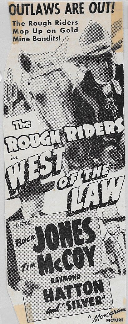 Tim McCoy, Raymond Hatton, Buck Jones, and Silver in West of the Law (1942)
