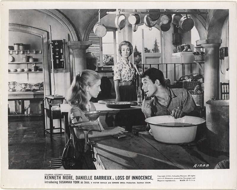Jane Asher, Danielle Darrieux, and David Saire in The Greengage Summer (1961)