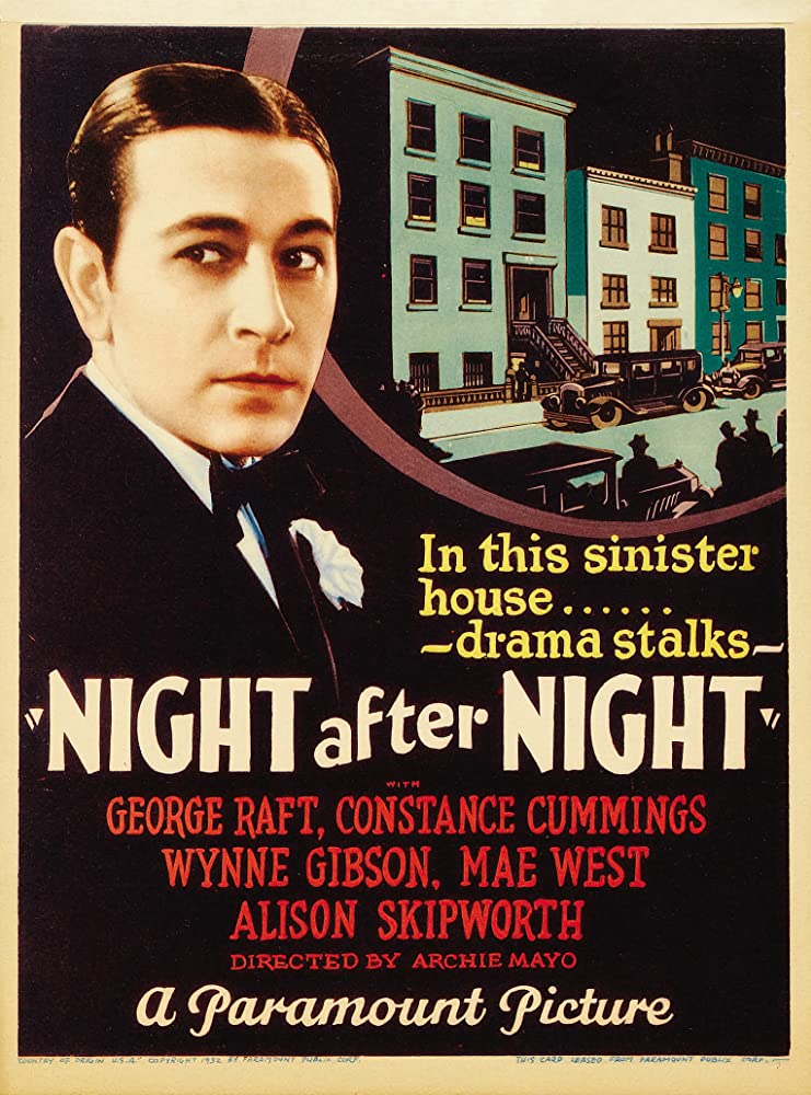 George Raft in Night After Night (1932)