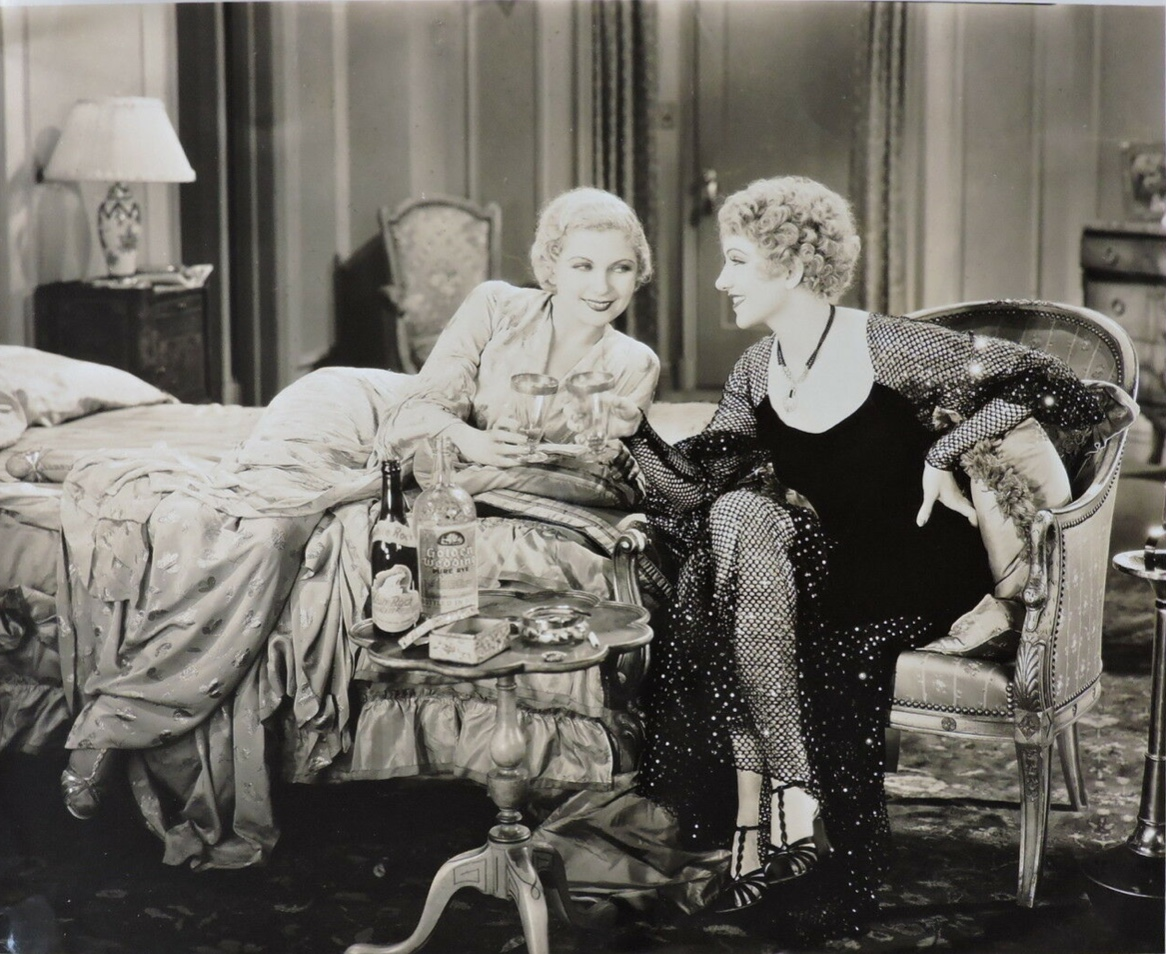 Claudette Colbert and Lilyan Tashman in The Wiser Sex (1932)
