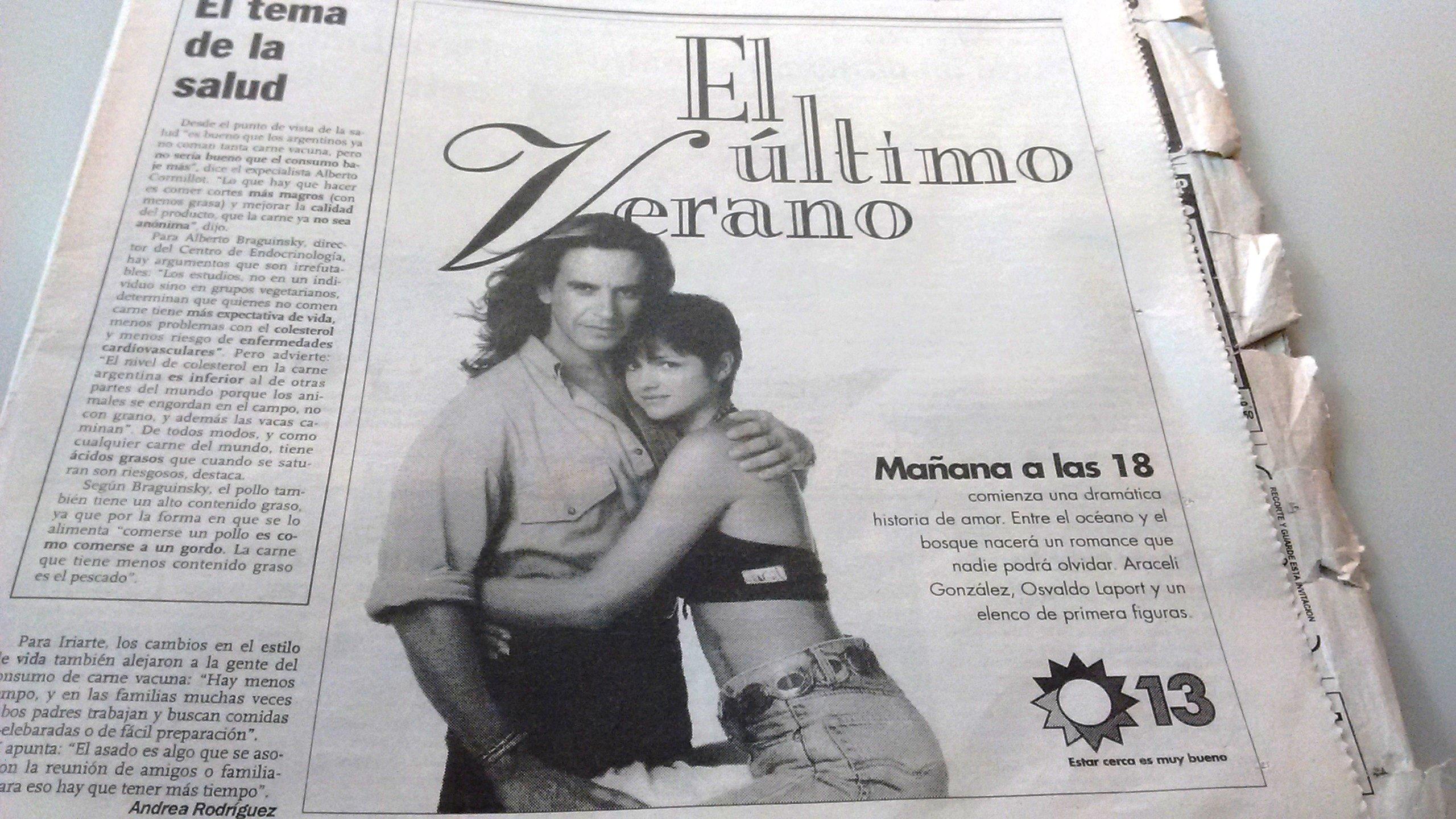 Araceli González and Osvaldo Laport in El último verano (1996)