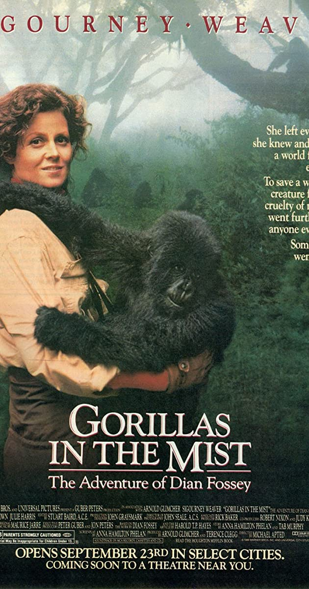 Gorilos rūke / Gorillas in the Mist: The Story of Dian Fossey (1988) Online