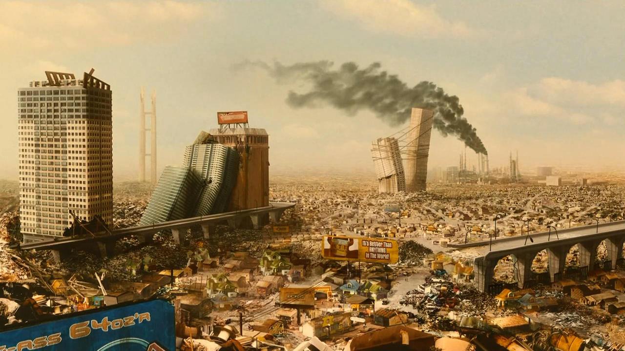 mögliche Postkarte aus der Welt von Idiocracy