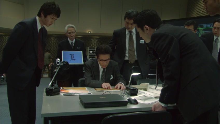 Shunji Fujimura, Takeshi Kaga, Ikuji Nakamura, Sota Aoyama, and Tatsuhito Okuda in Death Note: Desu nôto (2006)