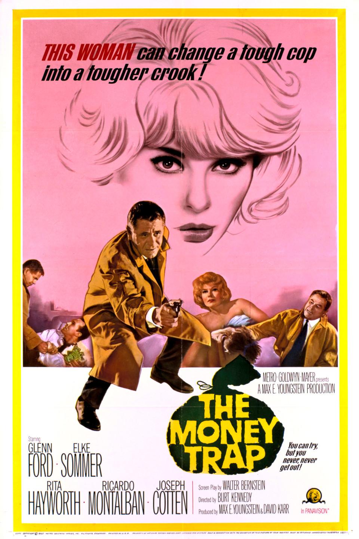 Rita Hayworth, Glenn Ford, and Elke Sommer in The Money Trap (1965)