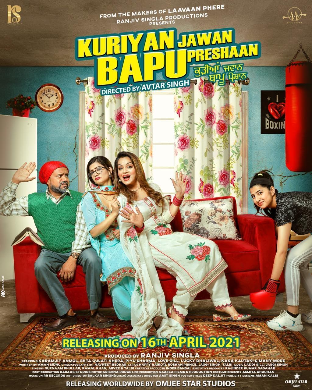 Kuriyan Jawan Bapu Preshaan 2021 Punjabi 720p HEVC HDRip x265 AAC ESubs Full Punjabi Movie [550MB]
