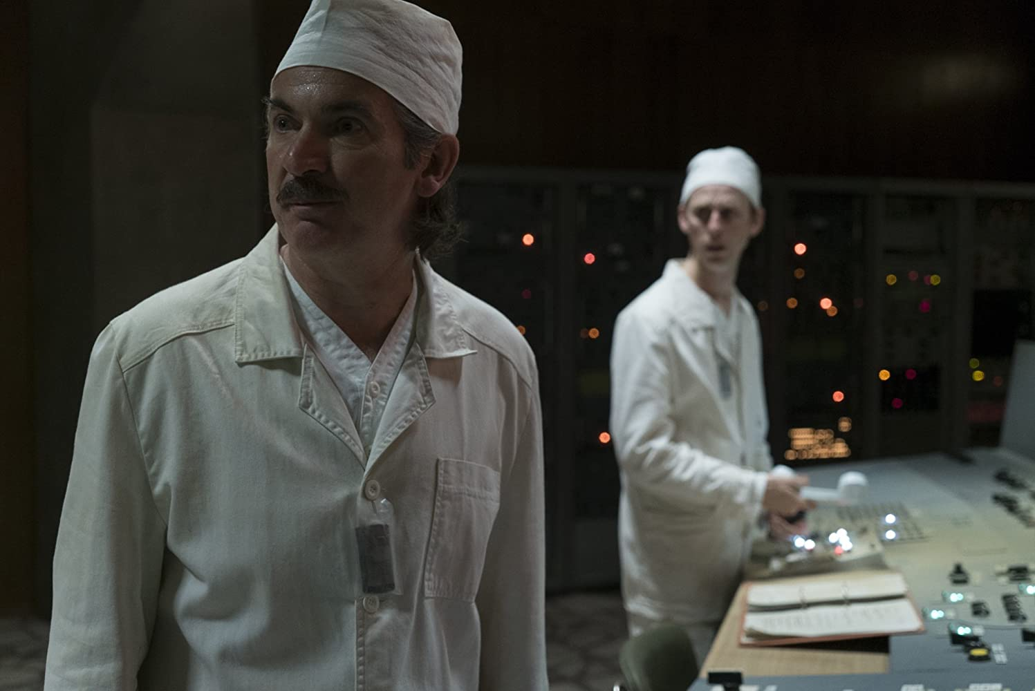 Paul Ritter and Robert Emms in Chernobyl (2019)