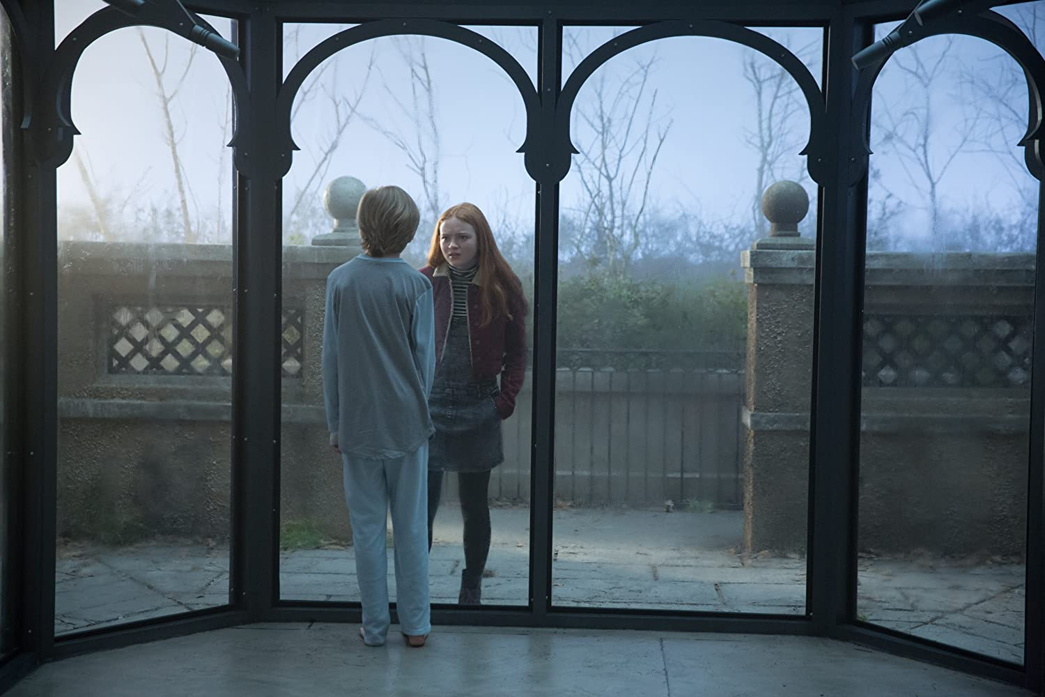 Sadie Sink and Charlie Shotwell in Eli (2019)