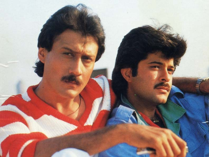 Jackie Shroff and Anil Kapoor in Andar Baahar (1984)