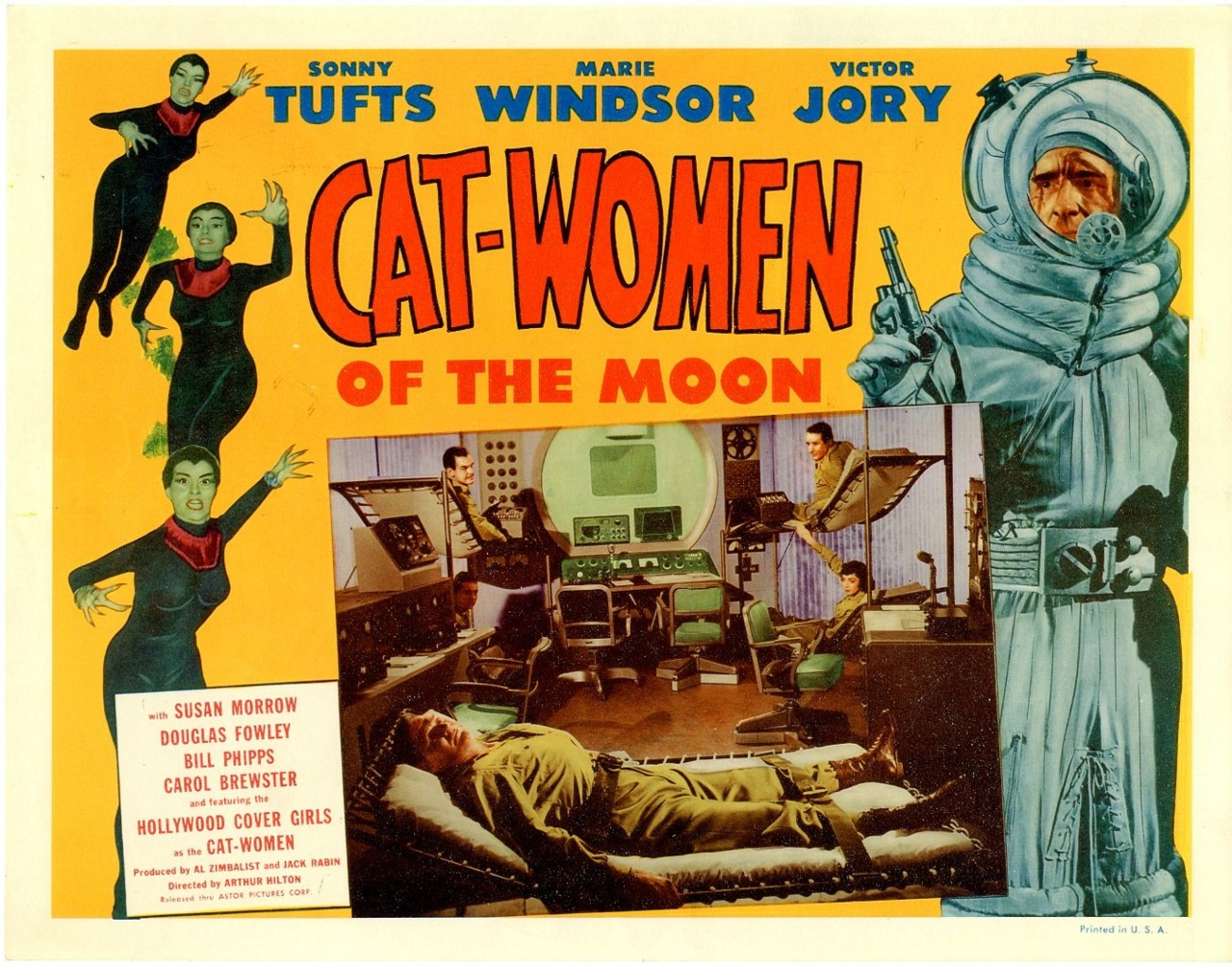 Victor Jory, Sonny Tufts, and Marie Windsor in Cat-Women of the Moon (1953)