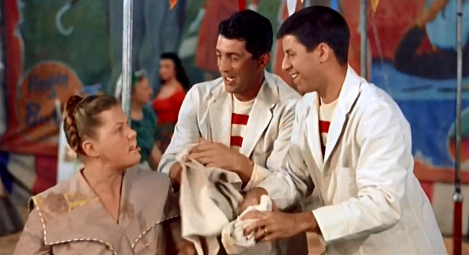 Jerry Lewis, Dean Martin, and Kathleen Freeman in 3 Ring Circus (1954)