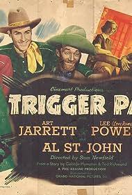 Ted Adams, Stanley Blystone, Dorothy Fay, Arthur Jarrett, Lee Powell, and Al St. John in Trigger Pals (1939)
