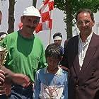 Amir Farrokh Hashemian, Dariush Mokhtari, and Behzad Rafi in Bacheha-Ye aseman (1997)