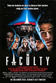 Elijah Wood, Josh Hartnett, Shawn Hatosy, Jordana Brewster, Clea DuVall, Laura Harris, and Usher in The Faculty (1998)