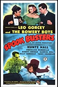 Tanis Chandler, Gabriel Dell, Douglass Dumbrille, and Leo Gorcey in Spook Busters (1946)