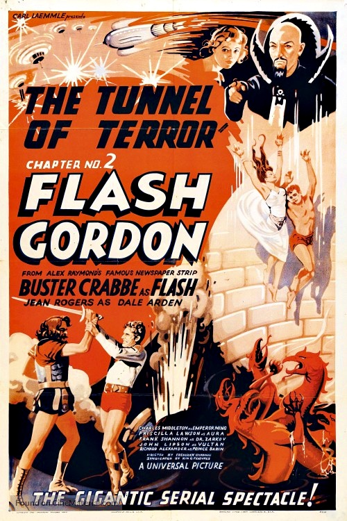 Buster Crabbe, Charles Middleton, James Pierce, and Jean Rogers in Flash Gordon (1936)