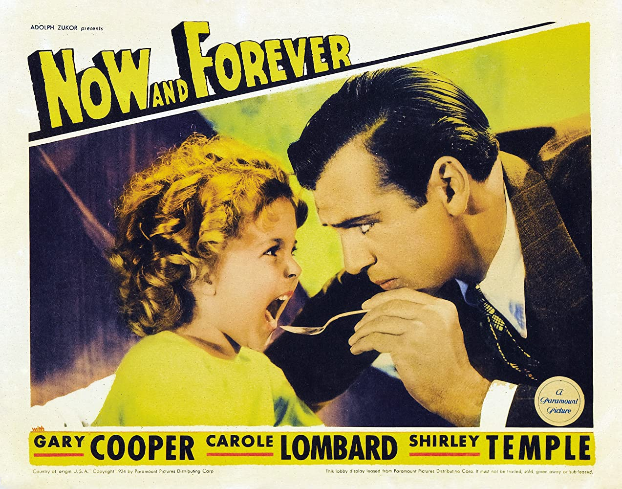 Gary Cooper and Shirley Temple in Now and Forever (1934)