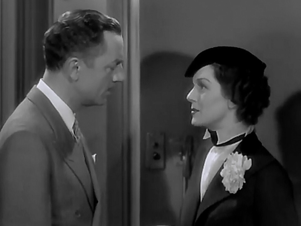 William Powell and Rosalind Russell in Evelyn Prentice (1934)