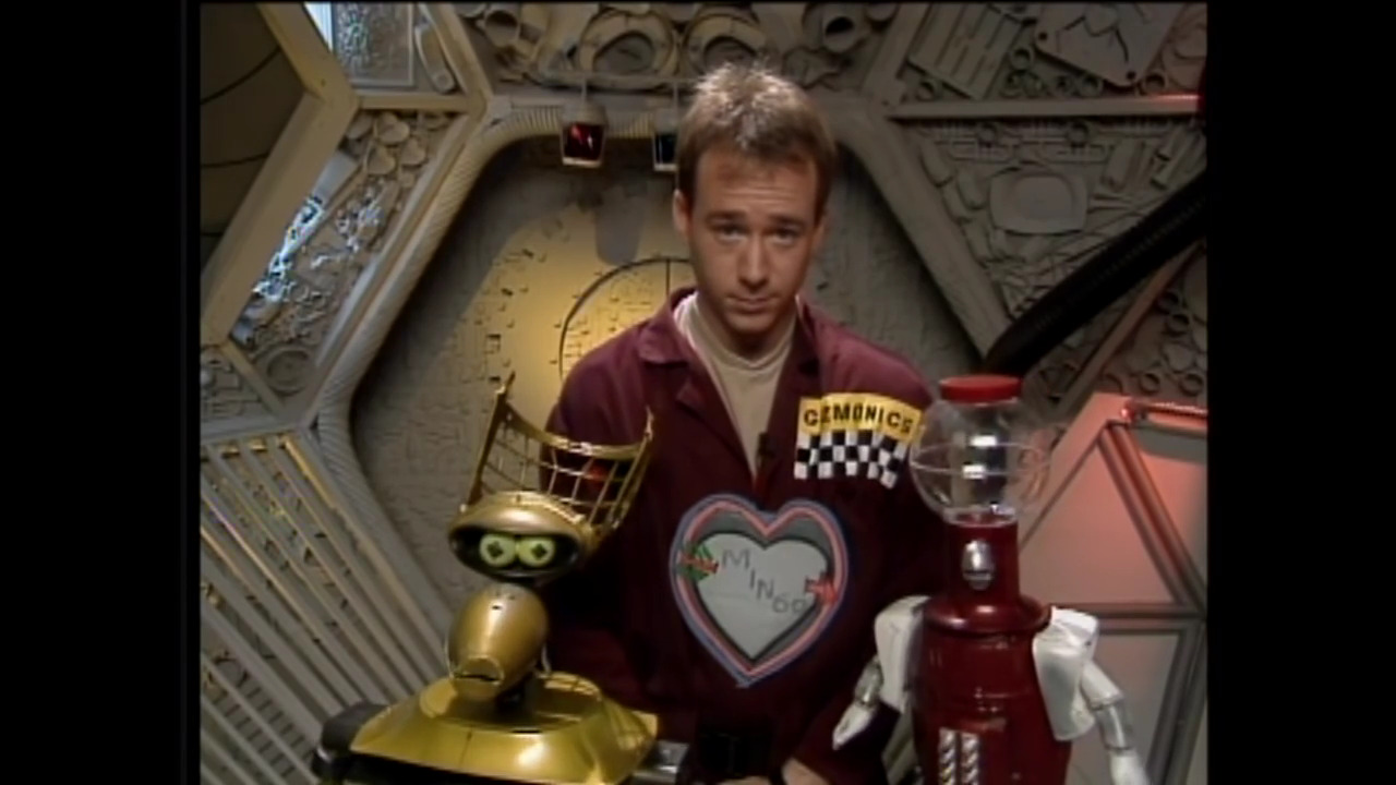 Trace Beaulieu, Joel Hodgson, and Kevin Murphy in Mystery Science Theater 3000 (1988)