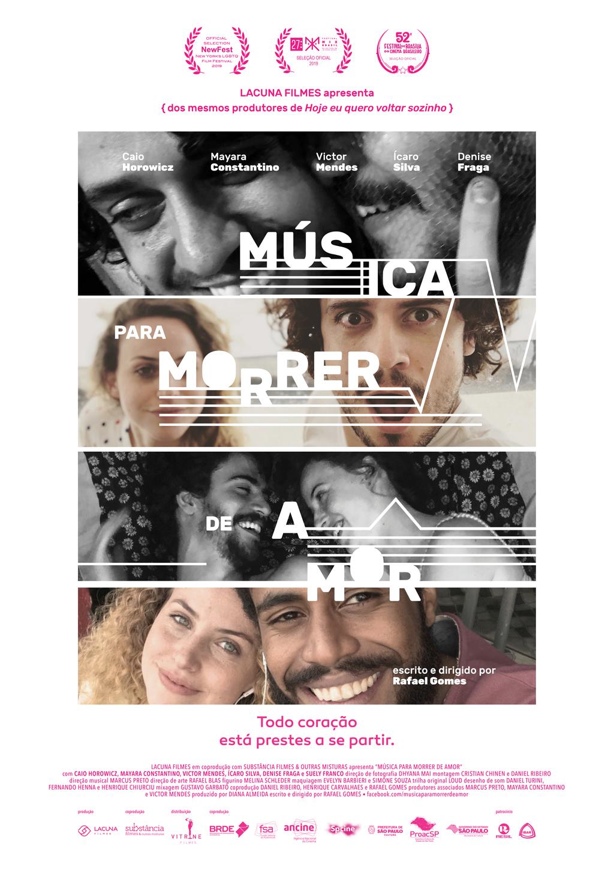 Ícaro Silva, Mayara Constantino, Victor Mendes, and Caio Horowicz in Música para Morrer de Amor (2019)