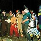 Mark Conway, Tim Wolak, Jordan Wolters, James Timothy Peters, Alexander Hale Gibson, Adriana Desiree Vega, Jordan Parsons, and Aaron Hart in Beware of the Klowns (2015)