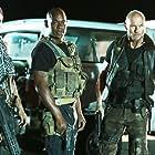 Luke Goss, Paul Sloan, Bokeem Woodbine, and Luciana Faulhaber in The Night Crew (2015)