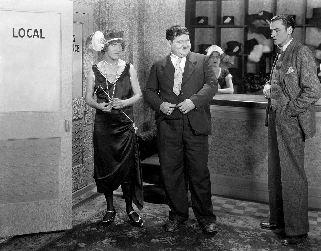 Oliver Hardy and Stan Laurel in That's My Wife (1929)