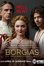 Jeremy Irons, Holliday Grainger, and François Arnaud in The Borgias (2011)