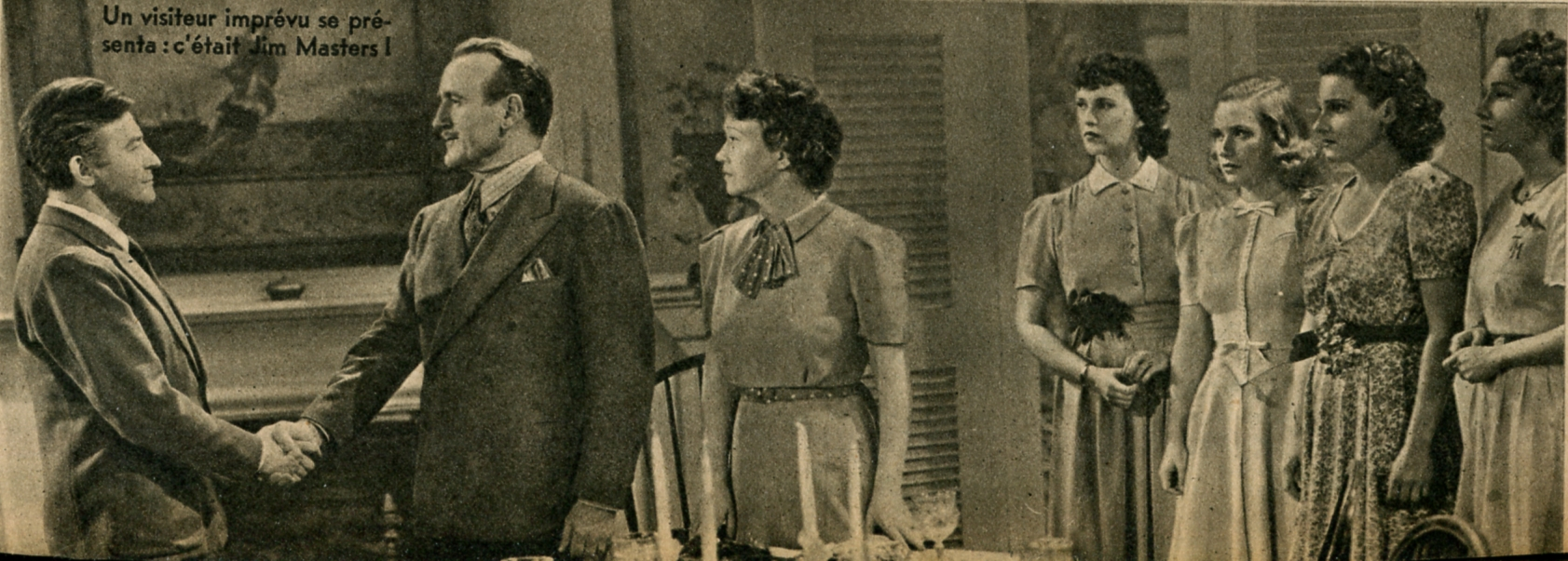 Claude Rains, Fay Bainter, Donald Crisp, Lola Lane, Priscilla Lane, Rosemary Lane, and Gale Page in Daughters Courageous (1939)