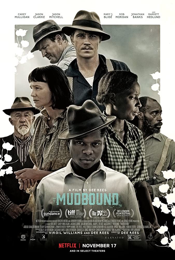Mary J. Blige, Jonathan Banks, Jason Clarke, Garrett Hedlund, Carey Mulligan, Rob Morgan, and Jason Mitchell in Mudbound (2017)