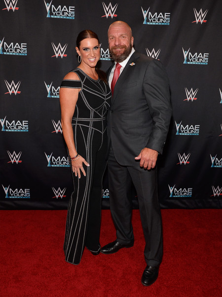 Paul Levesque and Stephanie McMahon at an event for WWE: Mae Young Classic Women Tournament (2017)