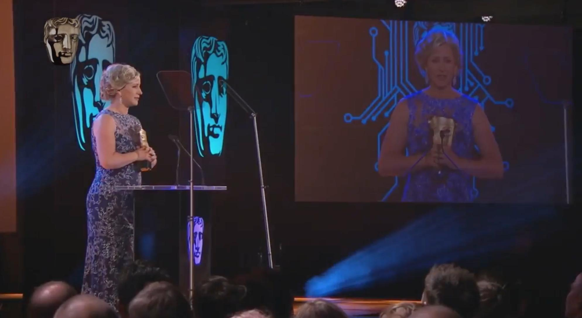 Cissy Jones accepts the BAFTA award for Best Performance in a Video Game