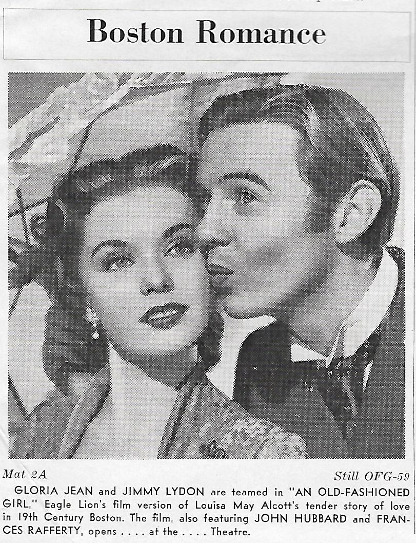 Gloria Jean and Jimmy Lydon in An Old-Fashioned Girl (1949)
